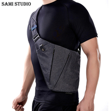 SAMI STUDIO Compact Single Shoulder Bags for Men Waterproof Nylon Crossbody Male Messenger Bag