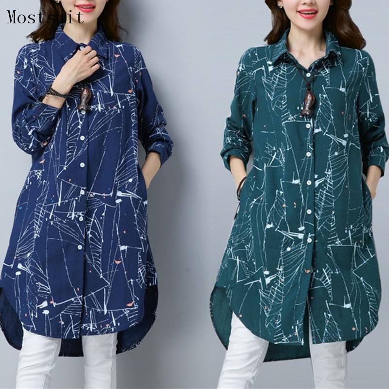Betrouwbaar Plus Size Kimono Blouse Tuniek 2018 Nieuwe 3d Gedrukt Lange Blusas Femininas Lente Herfst Lange Mouwen Katoen Linnen Shirt Tops Mujer