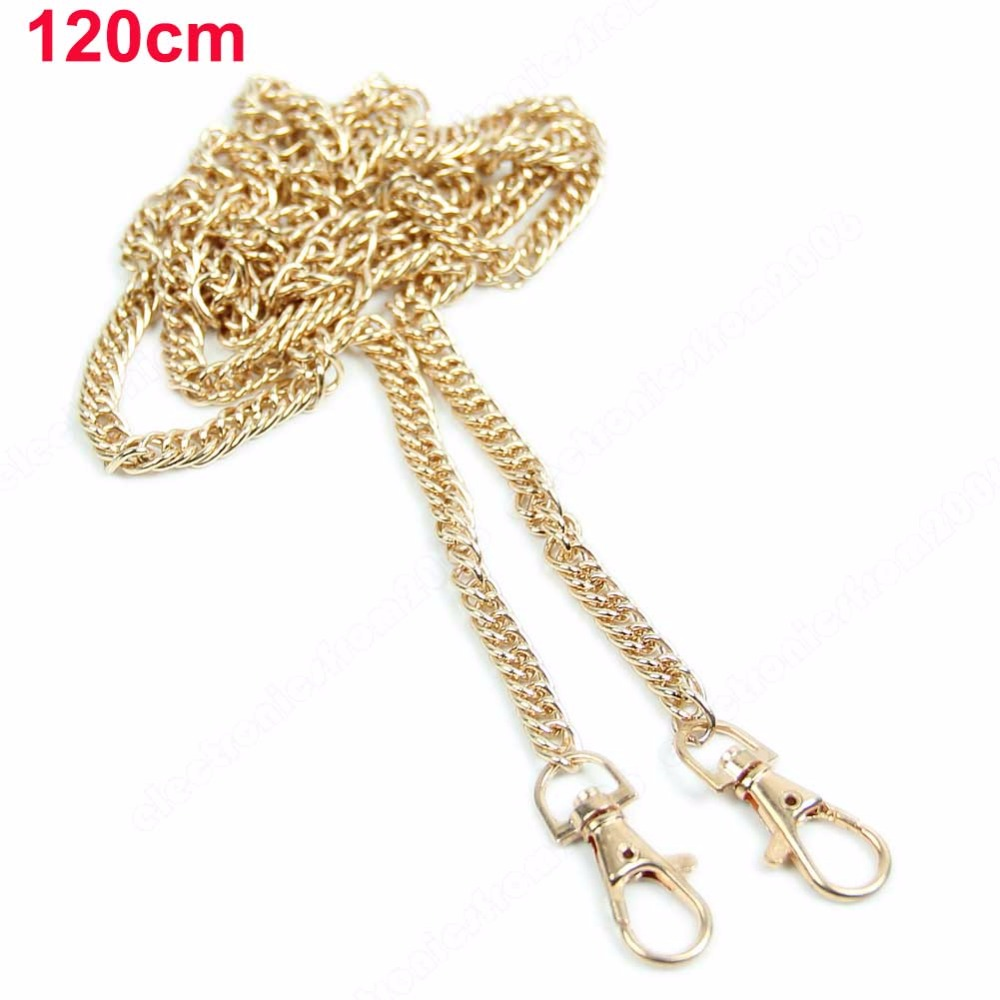 100% Quality Metal Chain Shoulder Crossbody Strap For Small Handbag Purse Bag Replacement 40cm 120cm Bag Parts & Accessories