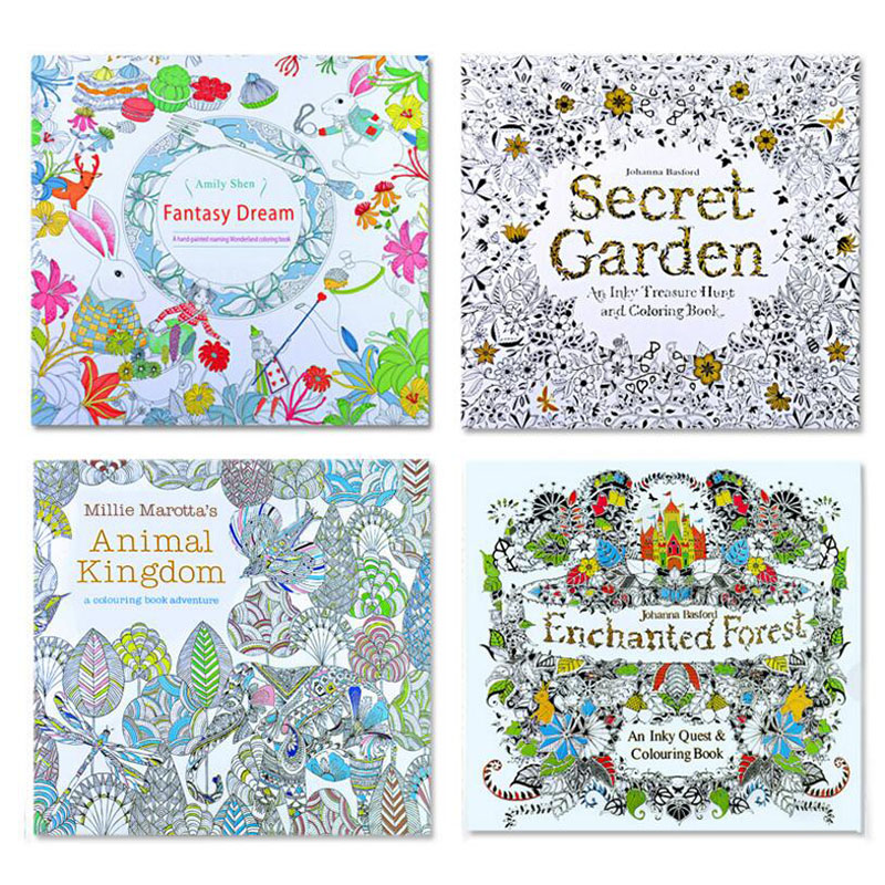 8 Sets / The Secret Garden And Animal Kingdom English Version Children'S Picture Book Adult Reduce Stress Art Picture Book