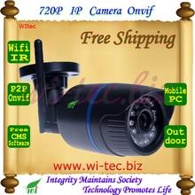 WI-FI 720 P ИК Открытый Пуля ONVIF Безопасности Мини Ночного Видения P2P IP Cam Ик-Фильтр Мегапиксельный Объектив 1.0MP Сеть камера