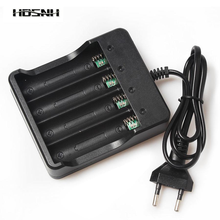 4 Emplacements Intelligente Protection 110-240 V EU/US/AU Plug 18650 Au Lithium Rechargeable Batterie Chargeur Avec Led Indication