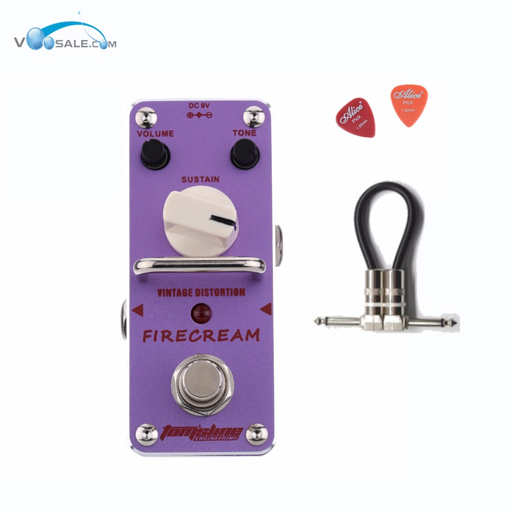 Aroma AFM-3 FIRECREAM Guitar Effect Pedal Mini Analogue Pedals With True Bypass Aluminium Alloy + Free Cable aroma asr 3 asr 3 shaper classic cabinet simulator mini digital guitar effect pedal aluminium alloy pedals with true bypass