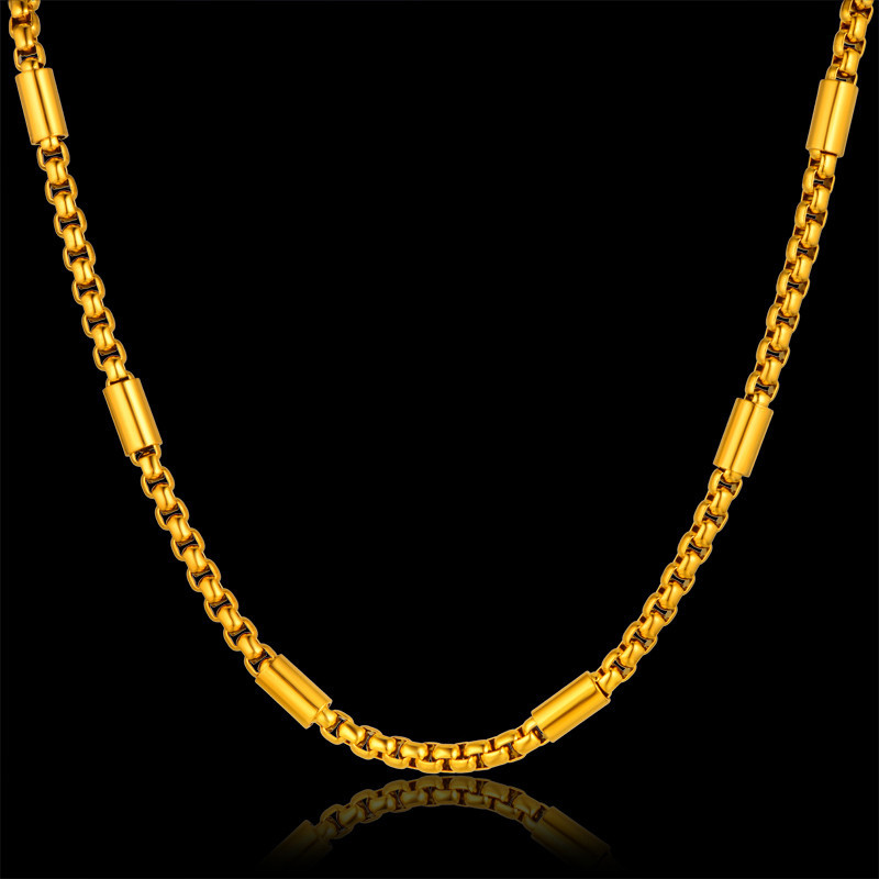 Fashion Stainless Steel Thick Gold Chain Necklace Male, New 3 Size ...