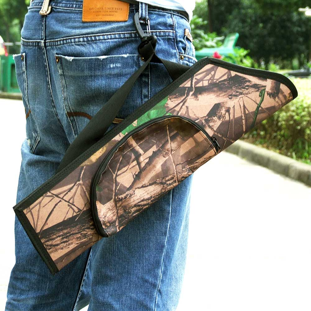 Outdoor Camouflage Archery Hunting Arrow Quiver Water Resistant Archery Quiver Holder Caza Arrows Bow Quiver Bag With Zipper