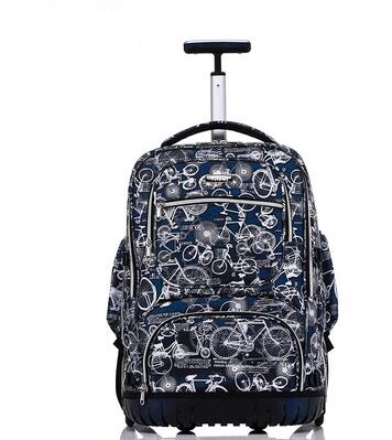 School Rolling backpack 19 inch Wheeled backpack for boys School bag On wheel Children Travel Trolley backpack bag for teenagers цена 2017