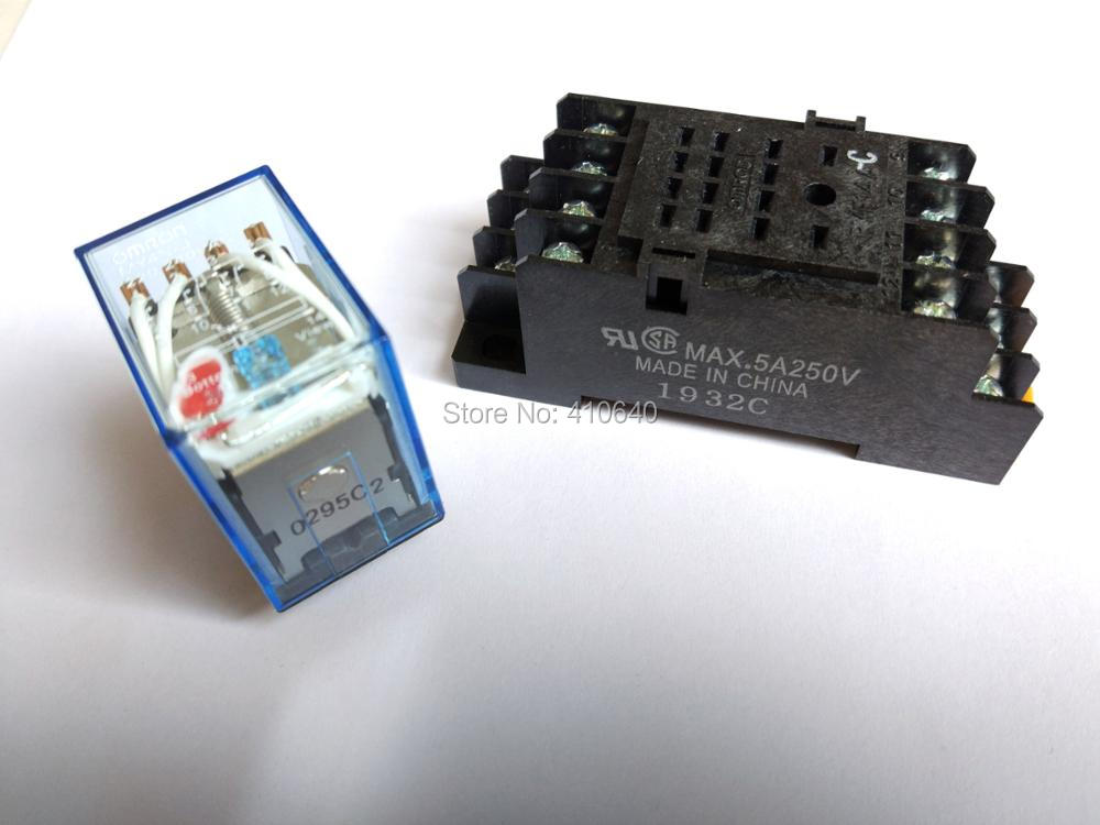 1 Piece ! Supreme Good Quality MY4N-J intermediate relay 220V/24V AC with good quality Socket Base Other Voltage in Large Stock my4nj ly2nj my2nj intermediate relay my4n j ac 220v dc 12v 10a 8 pin with base y103