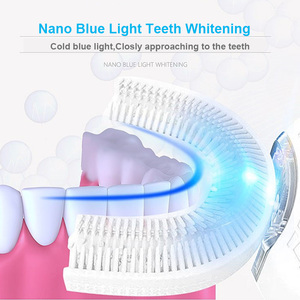 Image 4 - 360 Degree Sonic Electric Toothbrush New Upgrade Generation Blue Light Intelligent Memory Tooth Brush Inductive Charging U Type