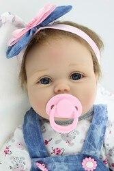 55cm Silicone Reborn Baby Doll Toys Lifelike Interactive Handmade Alive Baby Dolls Play House Girls Fashion Birthday Brinquedos