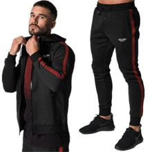 где купить FRMARO Winter Sport Suits Men Hoodies Sets M-2XL Fashion stitching Mens Gym Sportswear Running Jogging Suit Male Tracksuit по лучшей цене