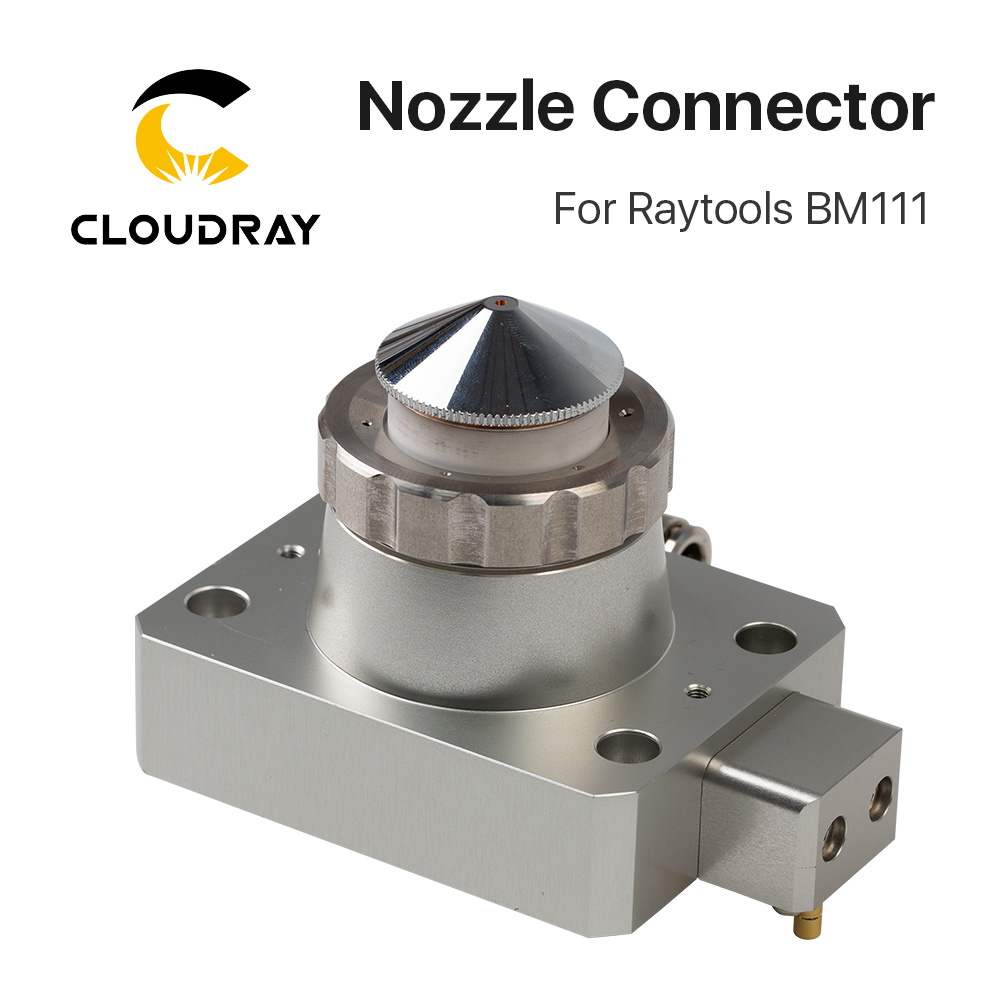 Cloudray Nozzle Connector of Raytools Laser Head BM111 For Fiber Laser 1064nm Cutting Machine