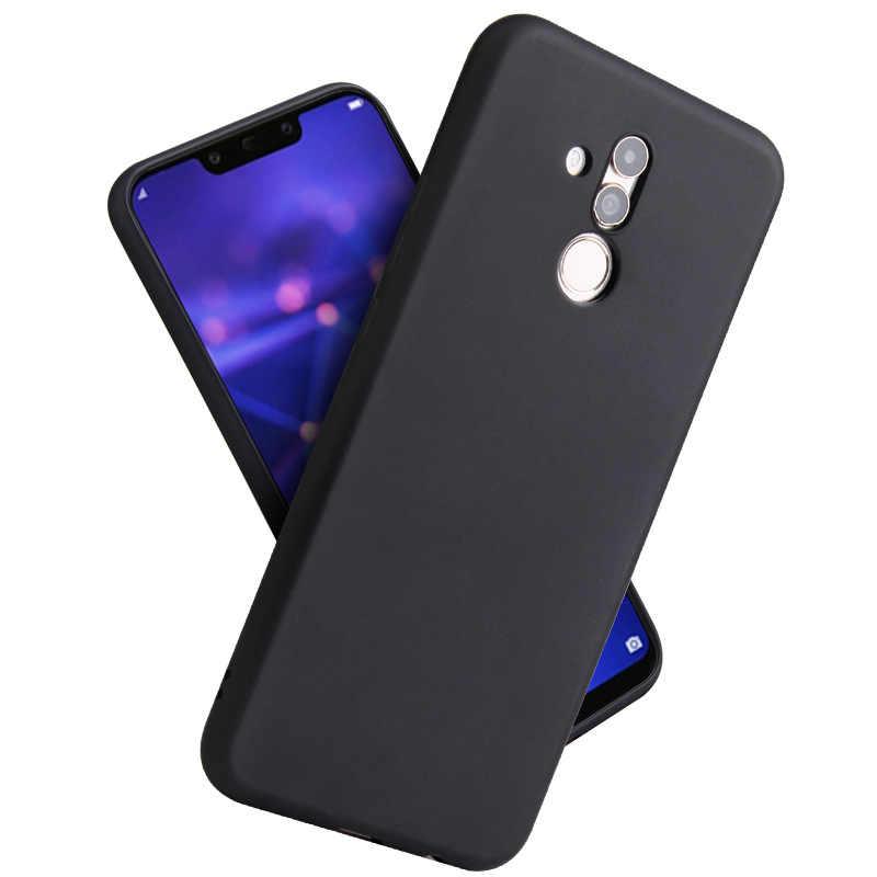 Kẹo Màu Trường Hợp đối với Huawei Mate 20 Lite P10 P20 P30 Pro Y9 Y6 2018 Honor 7A 7X8 8A 9 10 V10 8X Max Mềm Trường Hợp Đầy Đủ Bìa Capa