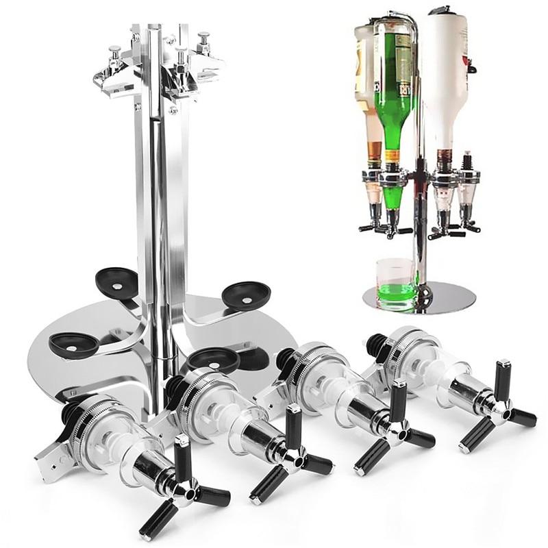 24 /× 24 /× 54 cm Steel Wine Bar Butler Optics Drinks Dispenser Rotary Bottle Stand for Home Bar Restaurant 6 Bottle Stand