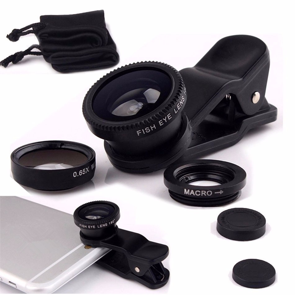 Newest Mobile Phone Camera Lens Kits Fisheye lense Wide Angle Macro Lens 12X Zoom Camera Telephoto Lens For iPhone Samsung LG 17