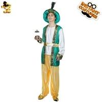 Adult Men's Aladdin Costume Imitation Green Aladdin Fancy Dress Carnival&Christmas Party Aladdin Costume