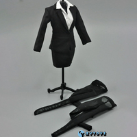 1:6 Scale ZY TOYS Womens Female Black Business Office Pencil Skirt Suit Fit 12 Inch Action Figure Doll Clothes Accessories