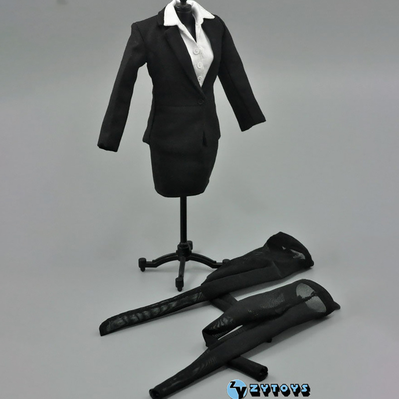 1:6 Scale ZY TOYS Womens Female Black Business Office Pencil Skirt Suit Fit 12 Inch Action Figure Doll Clothes Accessories 1 6 scale figure accessories doll female head for 12 action figure doll head shape fit phicne