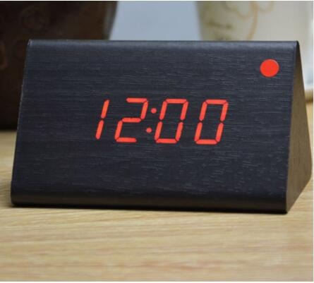 decorative table clocks Control Sensing Alarm Temp dual Display     decorative table clocks Control Sensing Alarm Temp dual Display Electronic  LED Clock Vintage Wooden Digital Alarm Clock in Alarm Clocks from Home    Garden