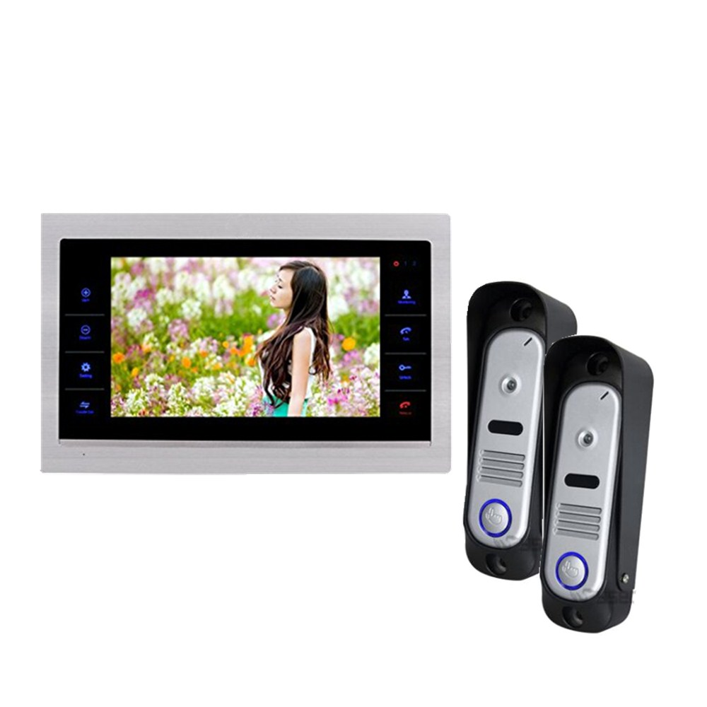 Homefong HD Video Doorbell Door Phone Intercom 10inchViewer Phone Night Vision IP65 Rainproof 2V1 2 Outdoor Station Unit homefong security 4 tft lcd screen night vision video door phone intercom doorbell kit hd 800tvl 2 indoor unit 2 outdoor unit