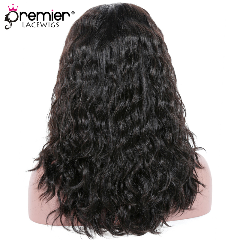 PREMIER LACE WIGS Double Drawn Hair Lace Front Wig Wet & Wavy Indian Remy Hair High DensityDeep Part Lace Wigs( DDW02)