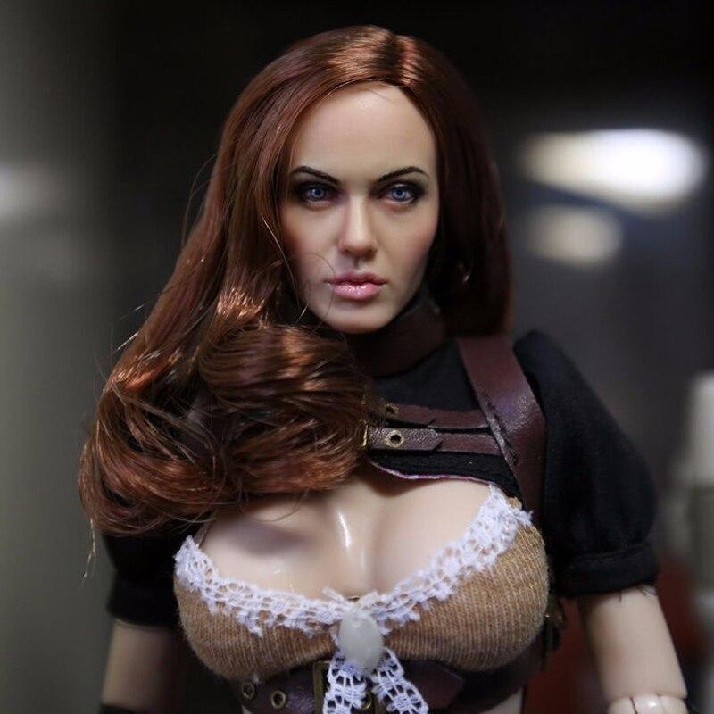 ФОТО CGL 1:6 Scale Female head Angelina Jolie Sculpt F 12