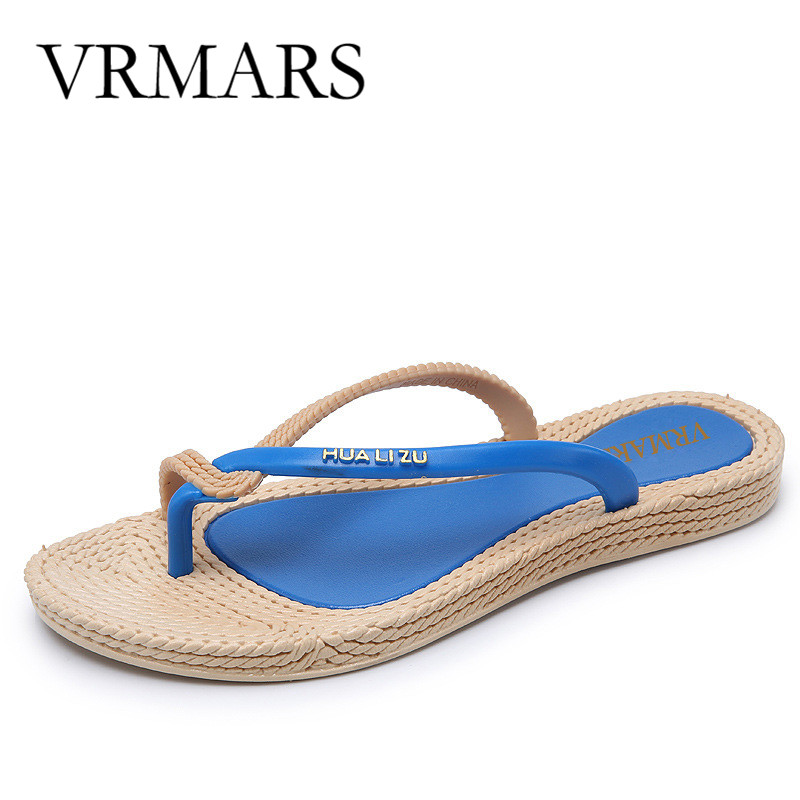 2017 New Fashion Sandalias Women Shoes Flip Flops  Beach Summer Shoes Flats Female Woman  Green Beige Sandals Sapato Feminino fashion sandals women flower flip flops summer shoes soft leather shoes woman breathable women sandals flats sandalias mujer x3