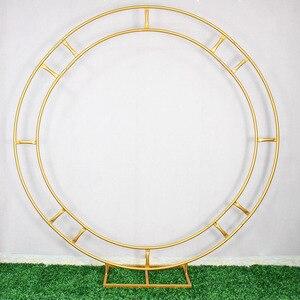 Image 3 - 1.2m/1.5m/2m/2.4m wedding prop iron ring shelf artificial flower wall stand door wedding background decor iron arch  iron stand