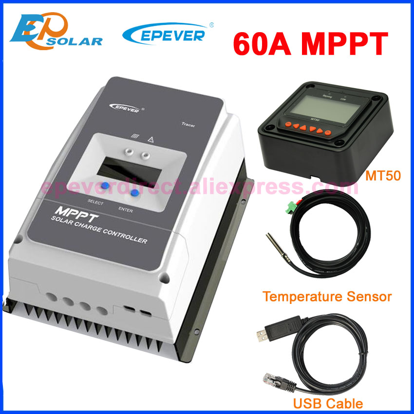 EPEVER 60A MPPT de Charge Solaire Contrôleur Régulateur pour 12 v 24 v 36 v 48 v DC max PV Cov 150 v 200 v entrée Tracer6415AN Tracer6420AN