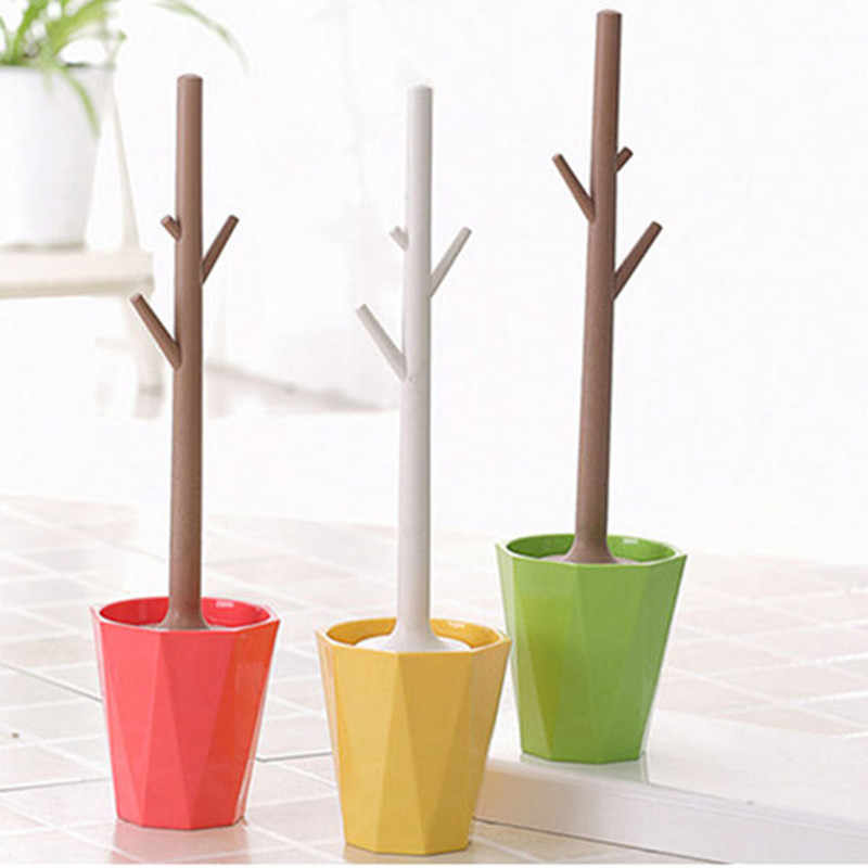 Creative tree-shaped ABS plastic toilet brush set detachable bathroom toilet brush toilet brush cleaner
