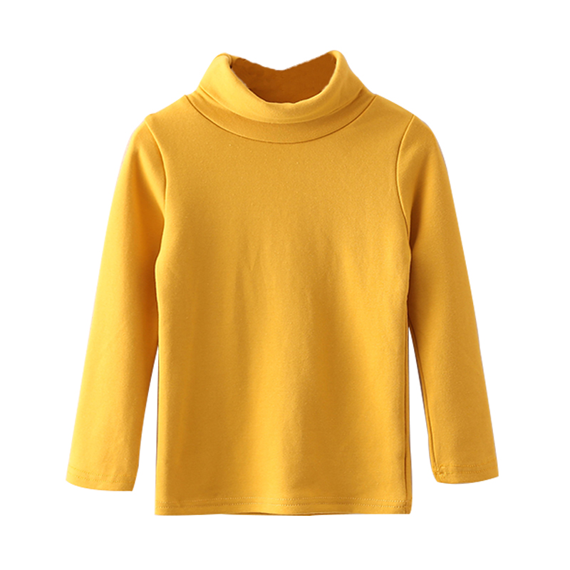 Autumn Winter Baby Boys Girls T-shirts New Casual Turtleneck Children Shirts Long Sleeve Warm Toddlers Clothing Tops Tees 2018 fashion autumn winter sweatshirt boys kids child girls t shirts long sleeve letter printed baby toddlers clothes tops