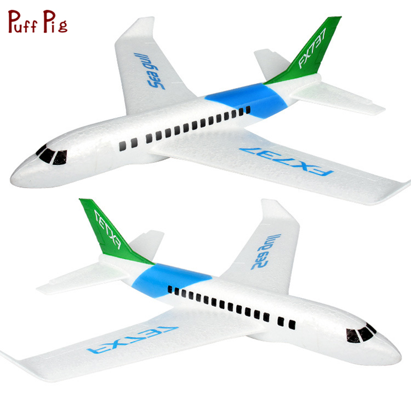Kids Toys Hand Launch Throwing Foam Palne EPP Airplane Boeing 737 Model Plane Glider Aircraft Model Outdoor DIY Educational Toy