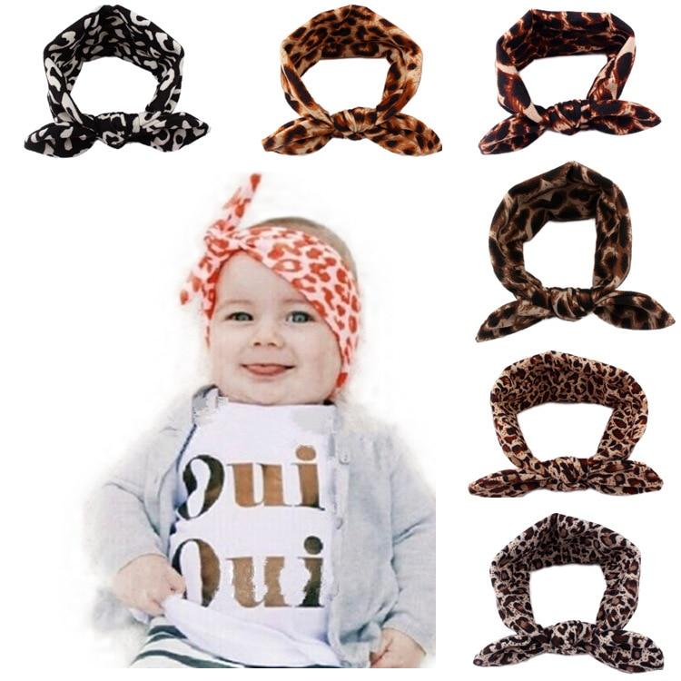 8e373e2031bd Children Hair Accessories Lovely Bunny Ear Leopard Baby Headbands Elastic  Fashion Soft Toddler scrunchy Bow Knot Girls Headband