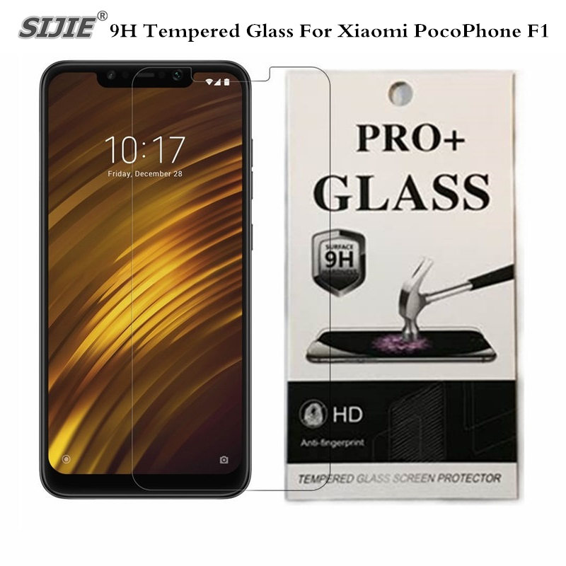 Tempered Glass For Global Version <font><b>Xiaomi</b></font> <font><b>POCOPHONE</b></font> <font><b>F1</b></font> <font><b>6GB</b></font> <font><b>128GB</b></font> POCO <font><b>F1</b></font> Snapdragon 845 Screen Protector Film retail packing image