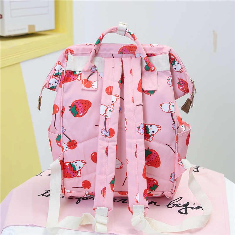 Японский стиль Harajuku школьный рюкзак для девочек сумки для женщин милый мультфильм ulzzang Дорожная сумка на плечо Kawaii Кролик Печать Рюкзак