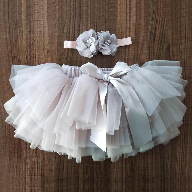 Bebé niñas tutú Bloomers bebé recién nacido pañales cubierta 2 piezas faldas cortas + diadema conjunto tutú falda niñas faldas arco Iris falda