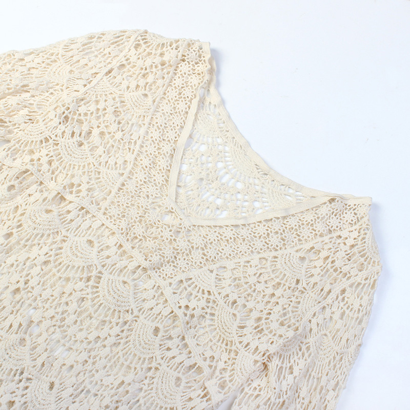 Beach Cover up White Dress Crochet 5