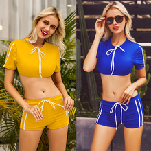 Tie Knot Bikini Crop Top Swimsuit Swimwear Bathing Sport suit Women Fashion Gifts Trendy Beachwear Beach Pool Spring New Active