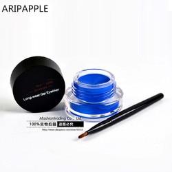 1Set Blue Eyeliner Waterproof Cream with Brush Make Up Comestics Eye Liner Cream Pen Beauty Essentials Makeup Gel Glitter