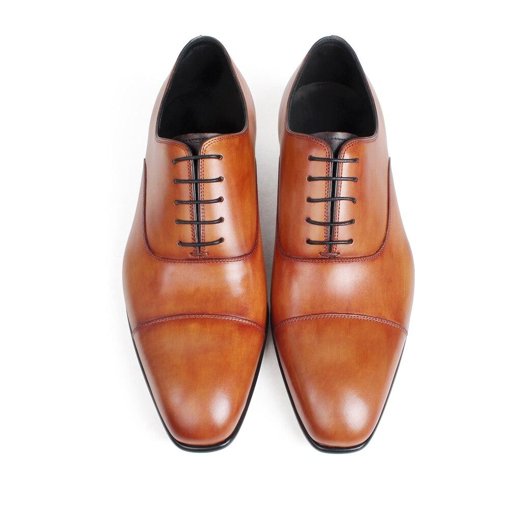 Brown Plana Sapato Casamento Yellow Vaca Do Dos Marrom Vikeduo Couro Para Oxford À Genuína Dedo Pé Vestido Feitos Pele Os Homens Escritório Sapatos Quadrado Pátina Mão De W1gwOFq