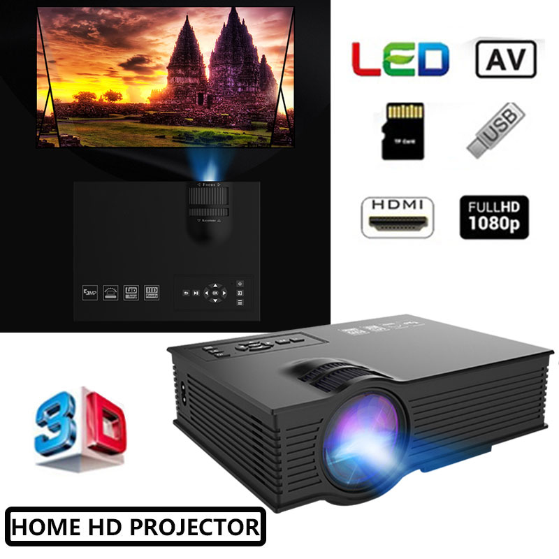 UNIC UC68 Original Projector 1800 Lumens 80 ANSI Multimedia Home Theatre HD 1080p Built in HIFI Speaker Home Entertainment