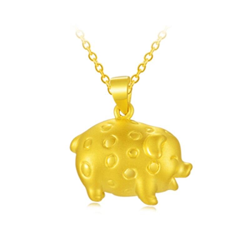 Новый 24 К желтое золото кулон 999 Золото 3D Симпатичные Свинья подвеска 3,8 г