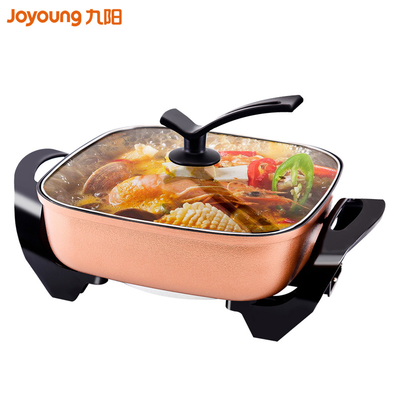 Jy12 Home Multi Cooker electric cooker Multifunction Electric Hot Pot Cooker 4.5L/6L 5 gear 1600W Vertical Reinforced glass lid lk1795 new multi cooker 1500w 6l double layer electric hot pot infinite firepower adjustment non stick pot with stand lid