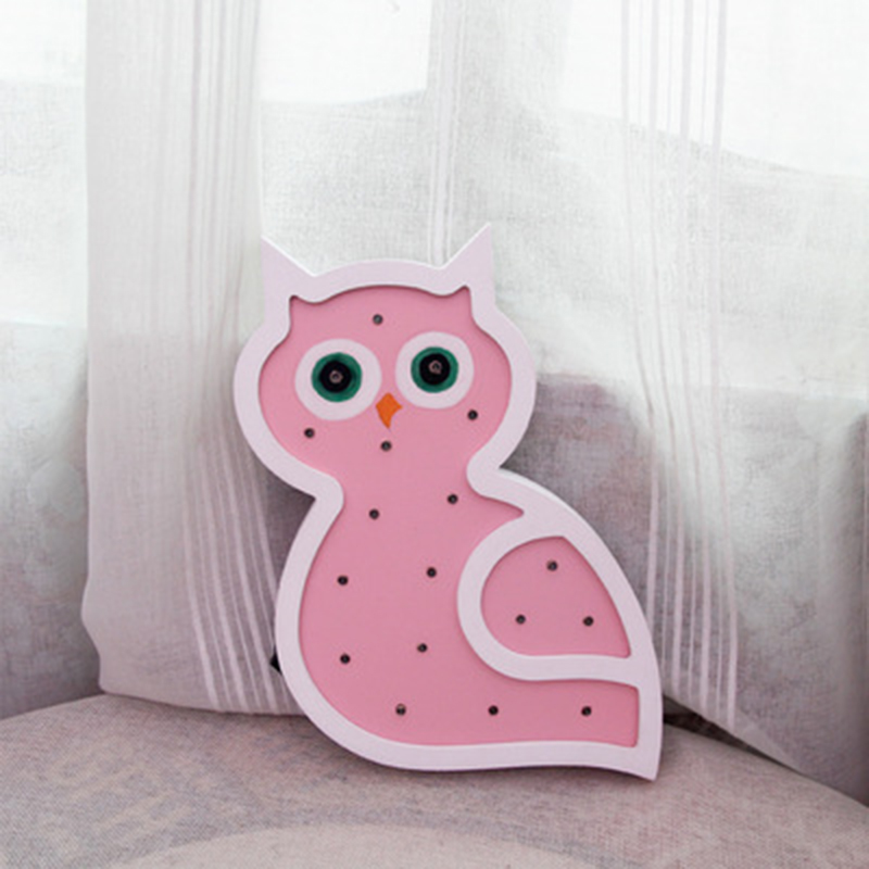 Jiaderui Wooden Novelty Owl Led Baby Night Light Table Lamp Kids ...