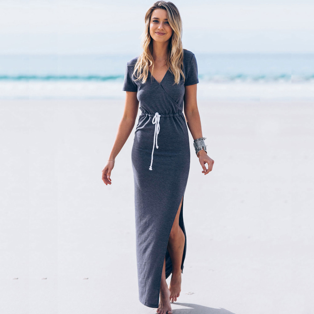 Ladies beach dresses maxi long dress