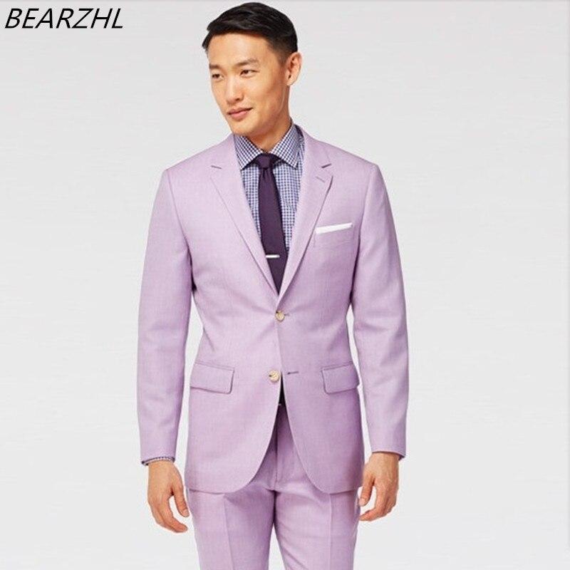 Tuxedo For Wedding Suit Light Purple Dress Groom Wear High