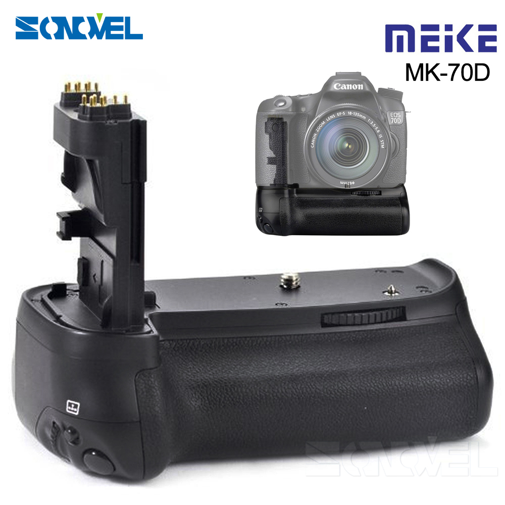 Meike MK-70D Vertical <font><b>Battery</b></font> <font><b>Grip</b></font> Holder For Canon EOS 70D <font><b>80D</b></font> DSLR Camera as BG-E14 Work with LP-E6 <font><b>battery</b></font> image