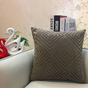 Brown Diamond corduroy Throw Pillow 5