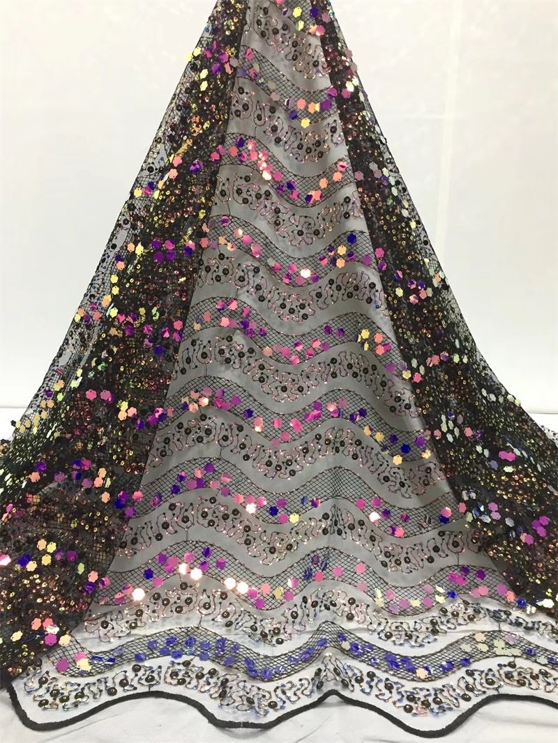 African Sequins Lace Fabric 2019 High Quality Lace French Tulle Lace Nigerian Lace Fabrics For Wedding DressAfrican Sequins Lace Fabric 2019 High Quality Lace French Tulle Lace Nigerian Lace Fabrics For Wedding Dress