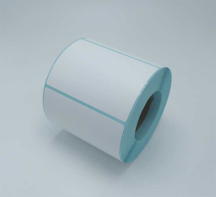wholesale 12roll Thermal sticker paper70x50mm 500sheets waterproof barcode printing paper paper bar code label printing paper matte silver self adhesive paper label printing diy crafts sticker for library book electronics blank bar code printed labels