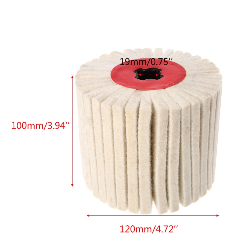 100mmx120mm Abrasive Drum Wool Brush Striping Wheel Polishing Grinding Buffing Striping Wheel For Electric Wire Drawing Machine